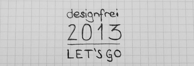 Bleistiftzeichnung auf kariertem Papier - Designfrei 2013 Let's Go